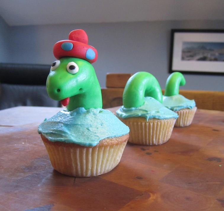 loch ness cupcakes
