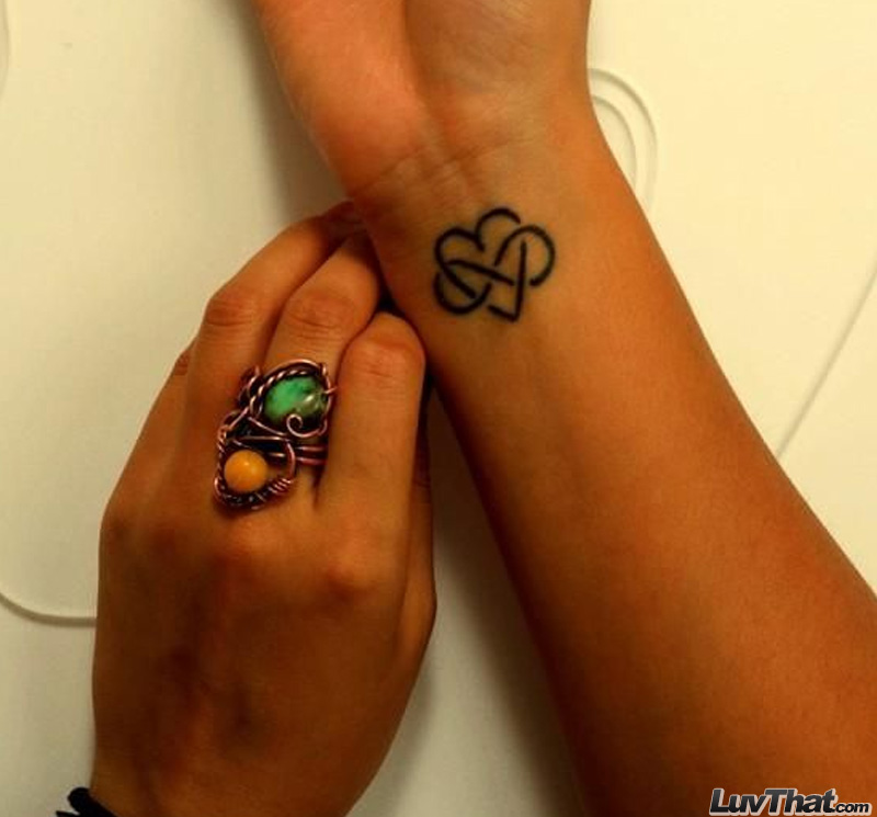 infinity heart wrist tattoo