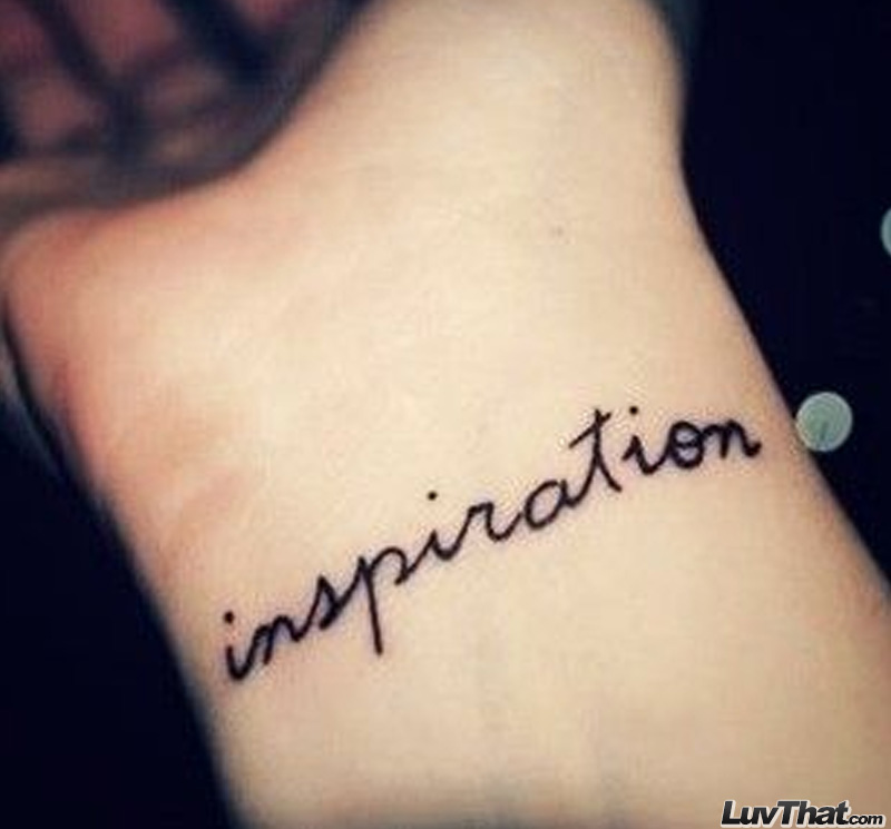 inspiration text wrist tattoo