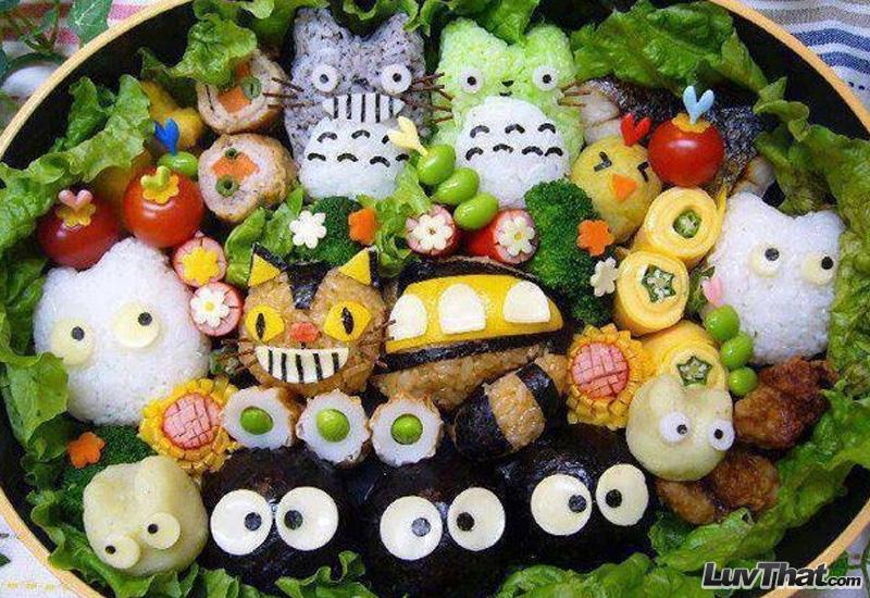 my neighbor totoro anime sushi art