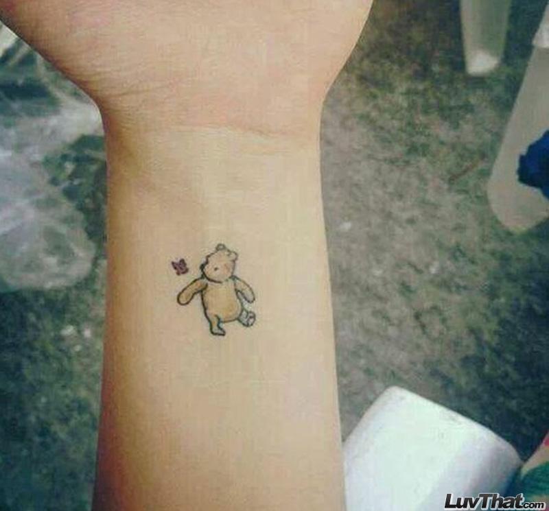 pooh wrist tattoo