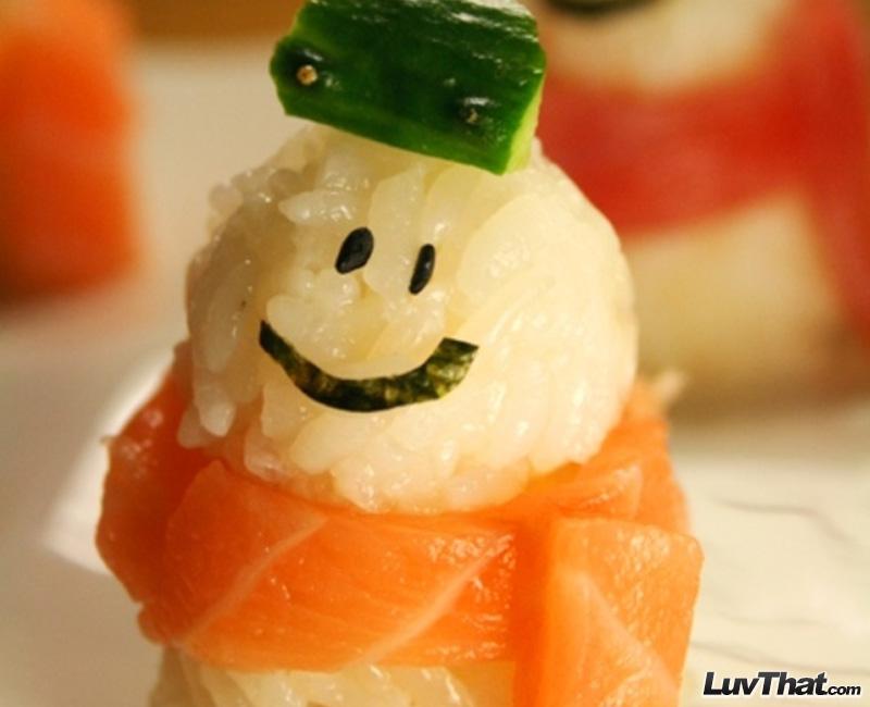 snowman cute sushi art