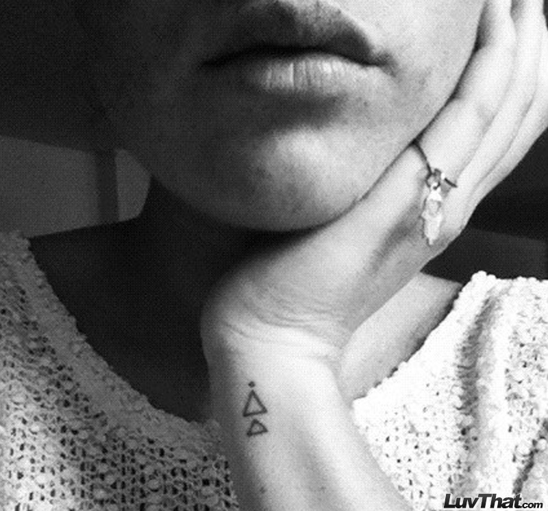 triangles wrist tattoo