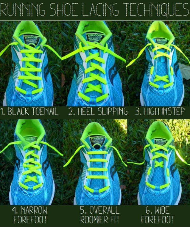 Running shoe lacing techniques for runners