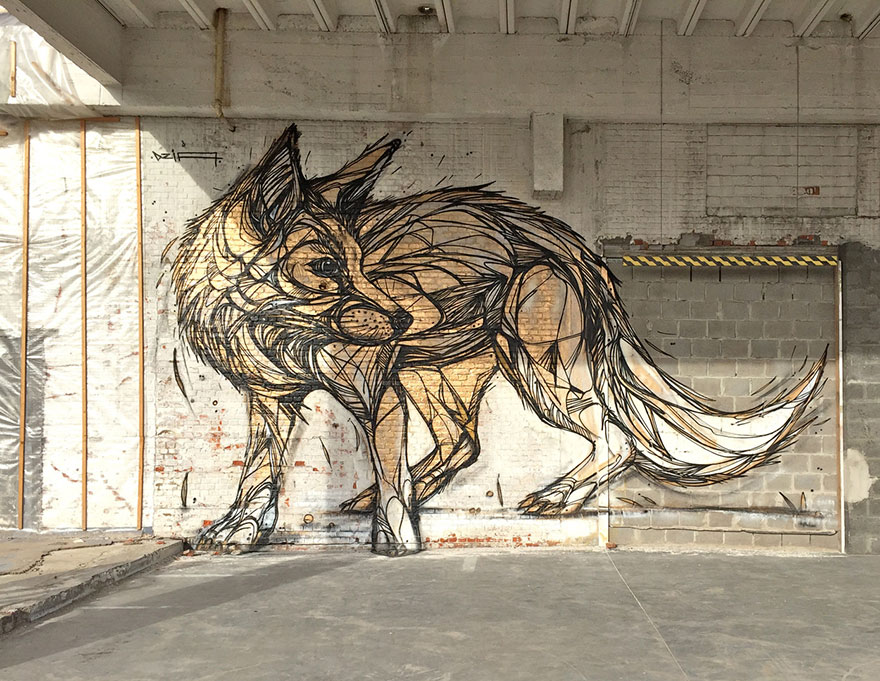 wolf street art graffiti