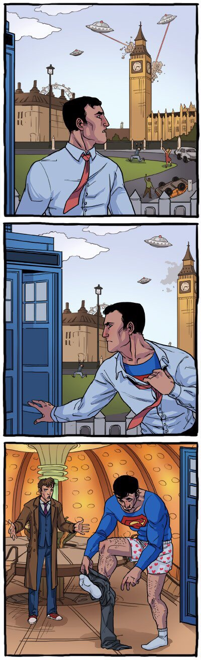 Superman Doctor Who crossover comic