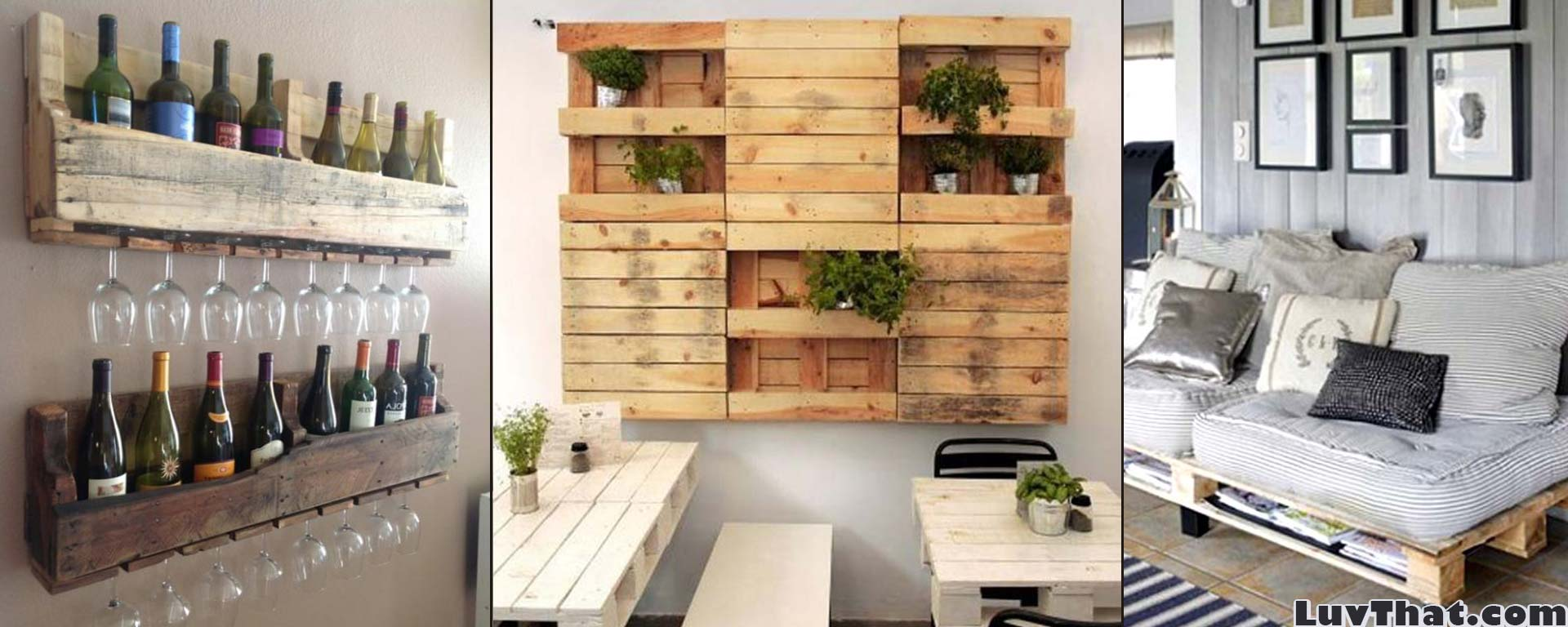 Cool wood pallet furniture ideas luvthat for How to make furniture out of wood pallets