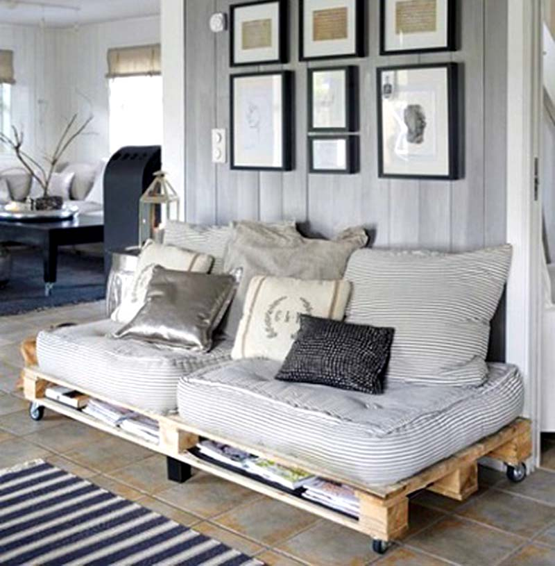 wooden pallet furniture ideas. Pallet Wood Couch And Storage Wooden Furniture Ideas T