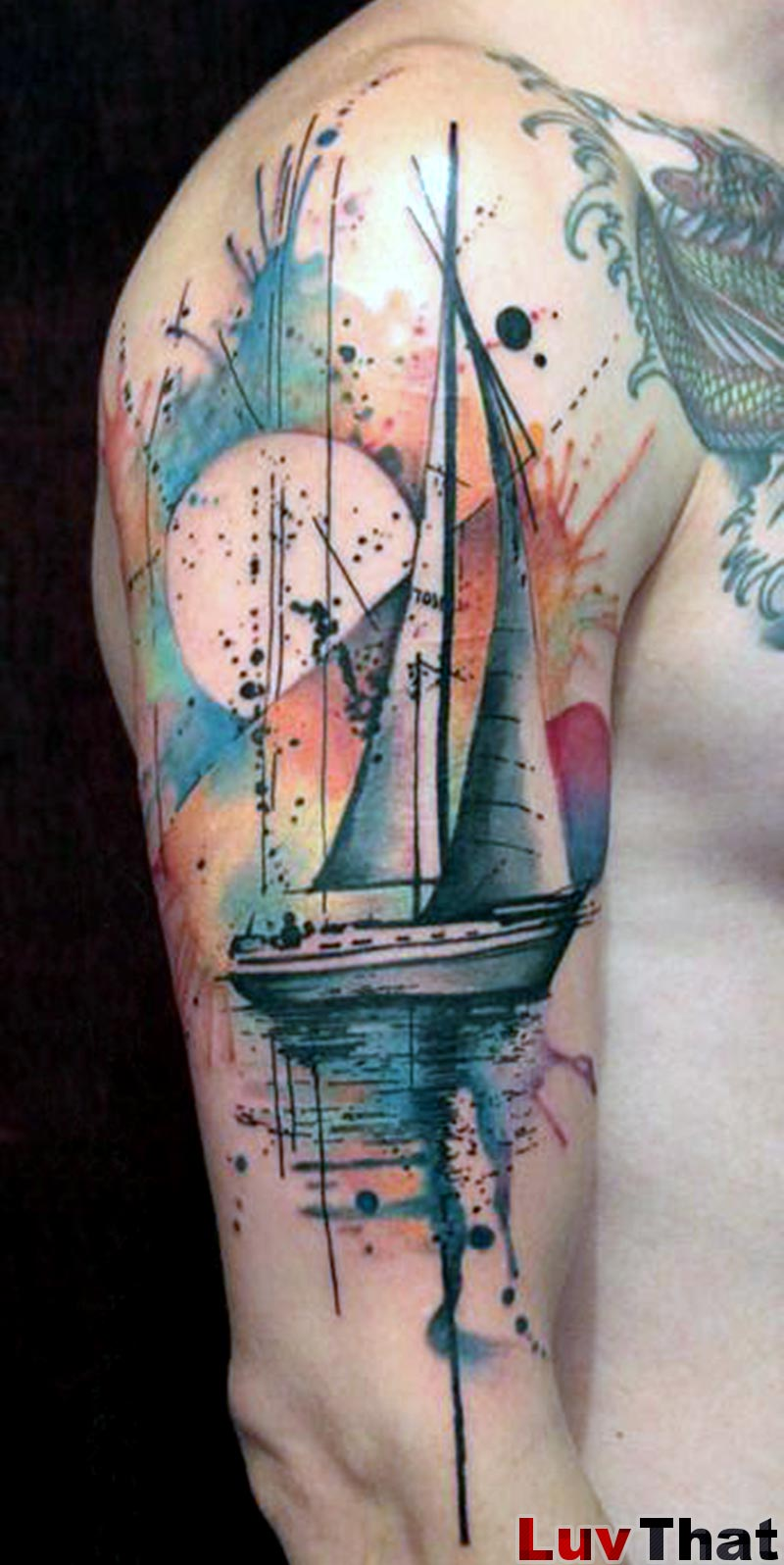 25 amazing watercolor tattoos luvthat. Black Bedroom Furniture Sets. Home Design Ideas
