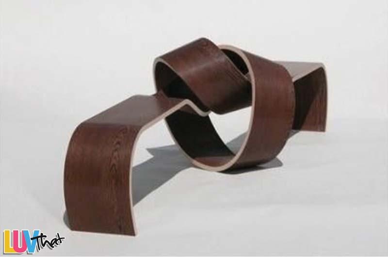 sculptural knot bench