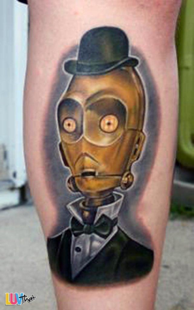 Storm Trooper Tattoo Watercolor