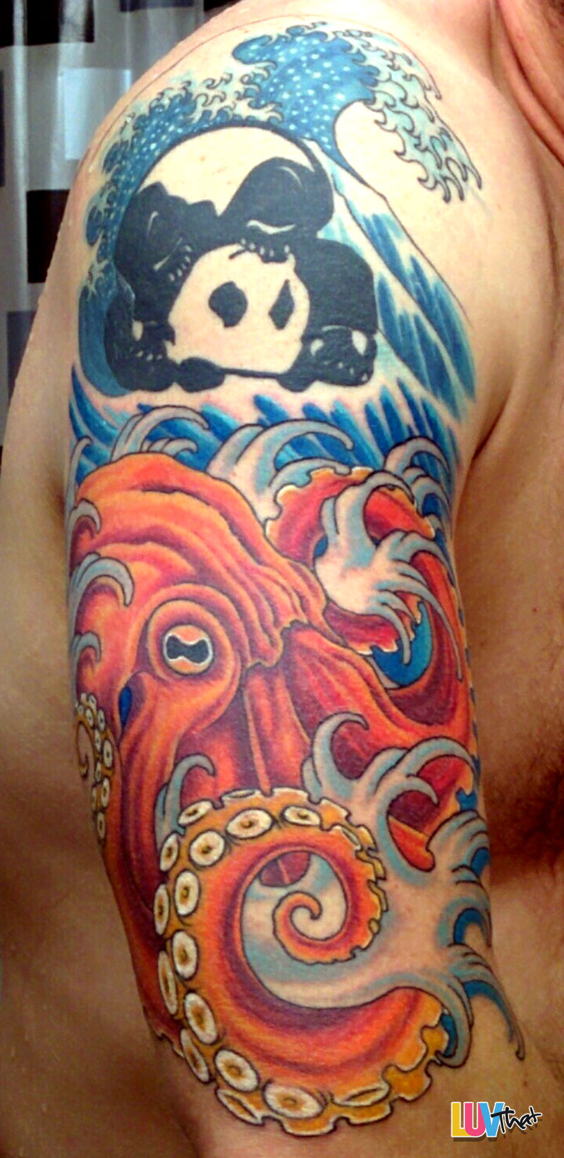 colorful octopus tattoo