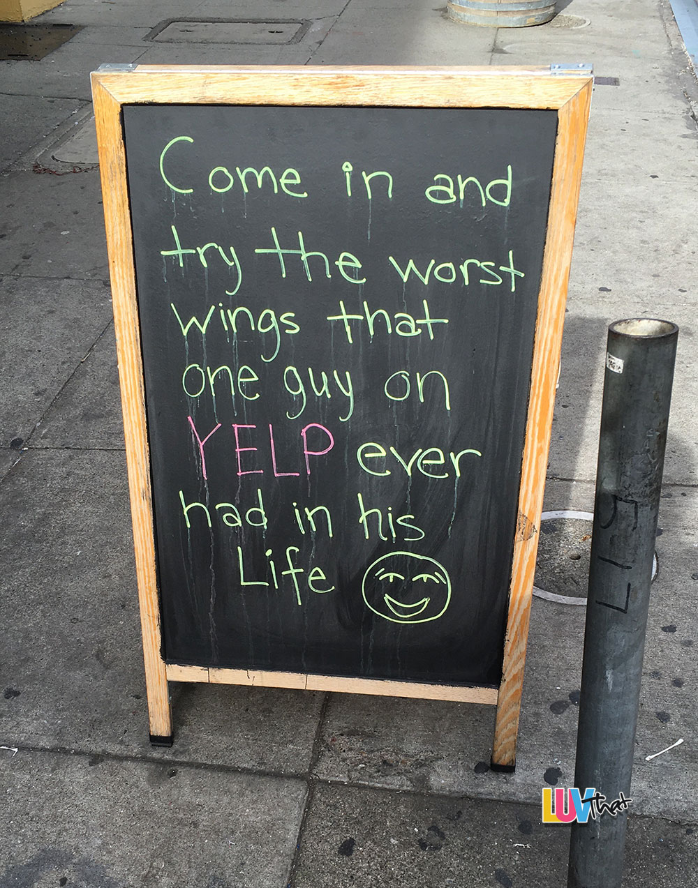 come try our yelp reviewed wings