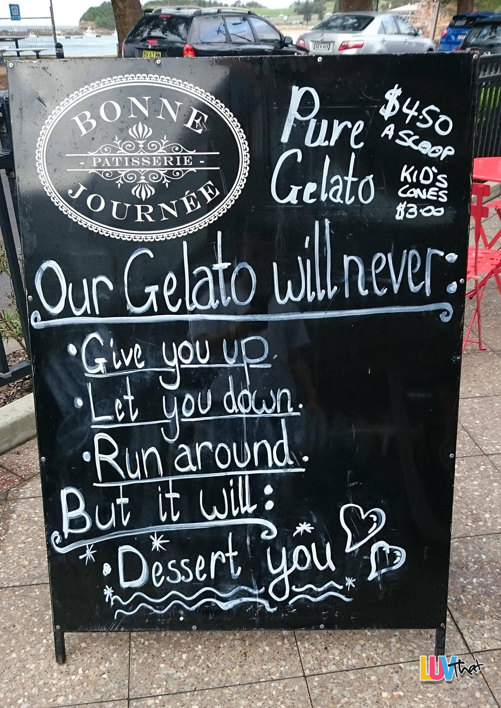 gelato will never dessert you