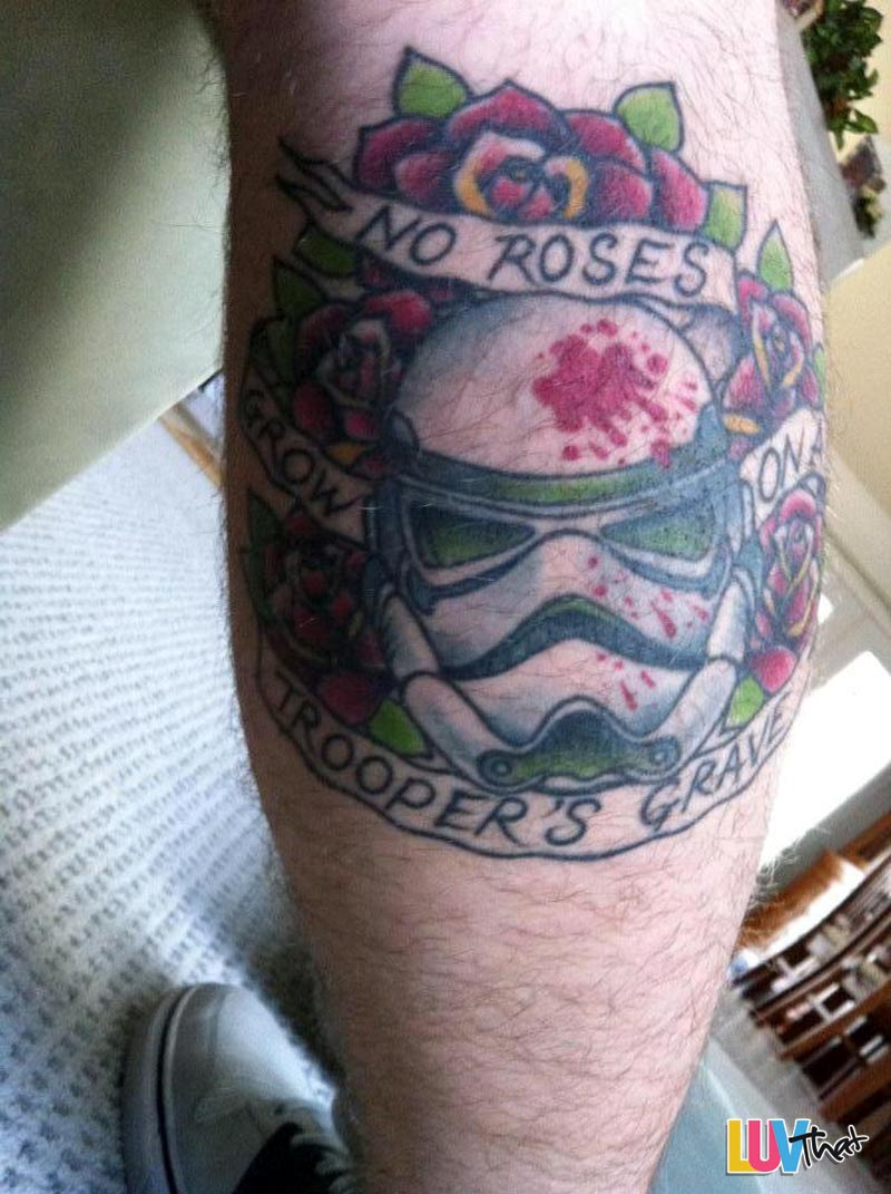 no roses grow on a troopers grave starwars tattoo