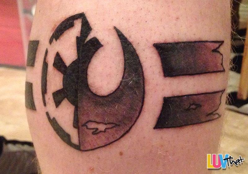 starwars leg tattoo