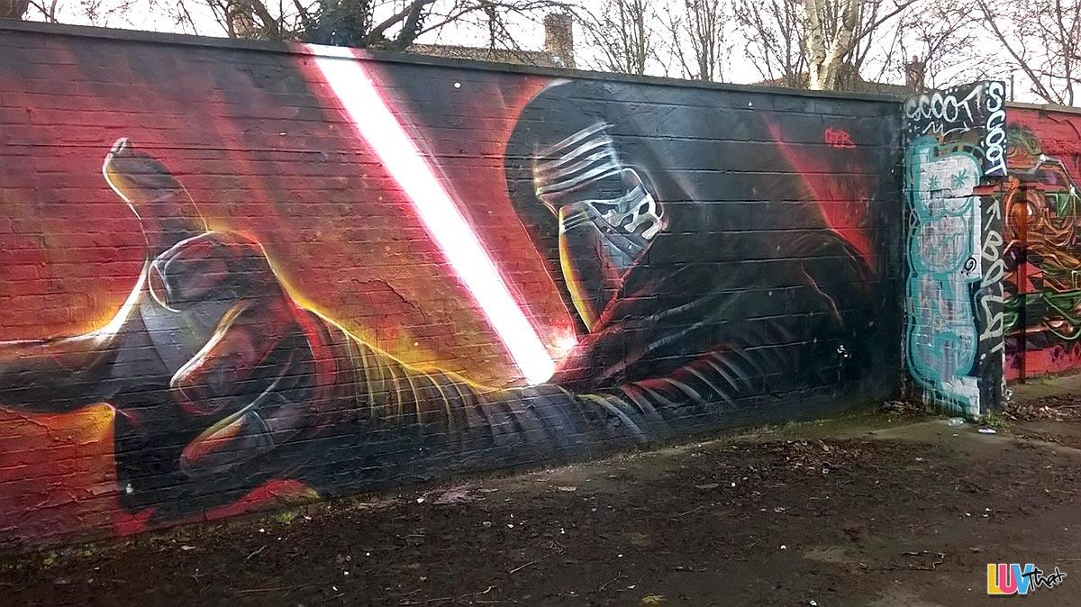 Kylo Ren Street art mural
