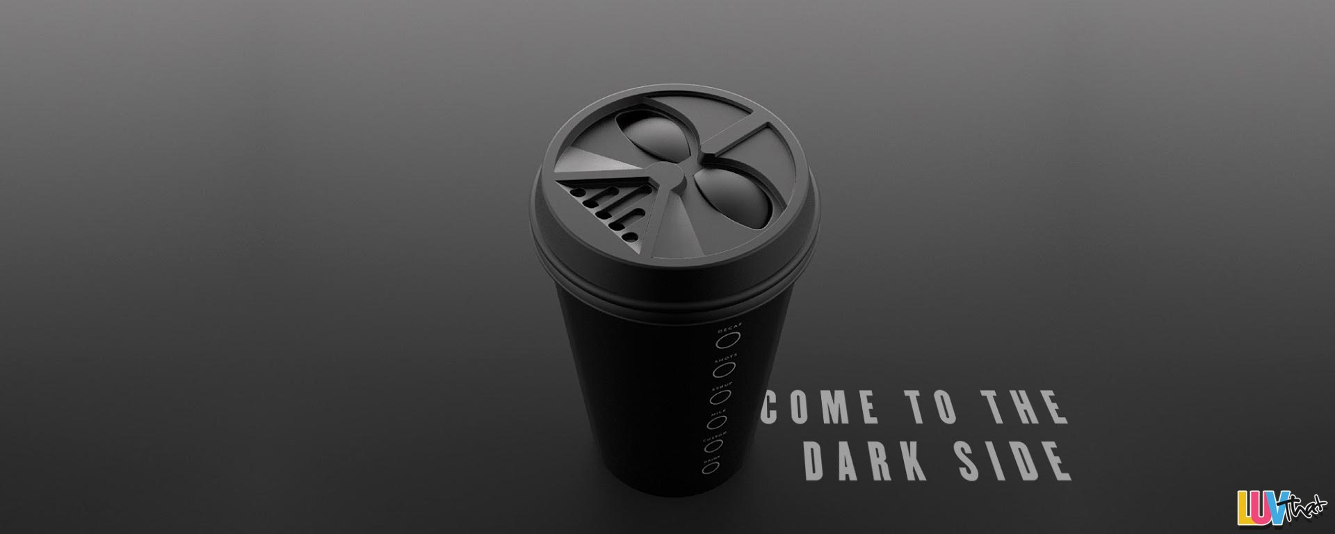 Darth Vader Coffee Cup Lid