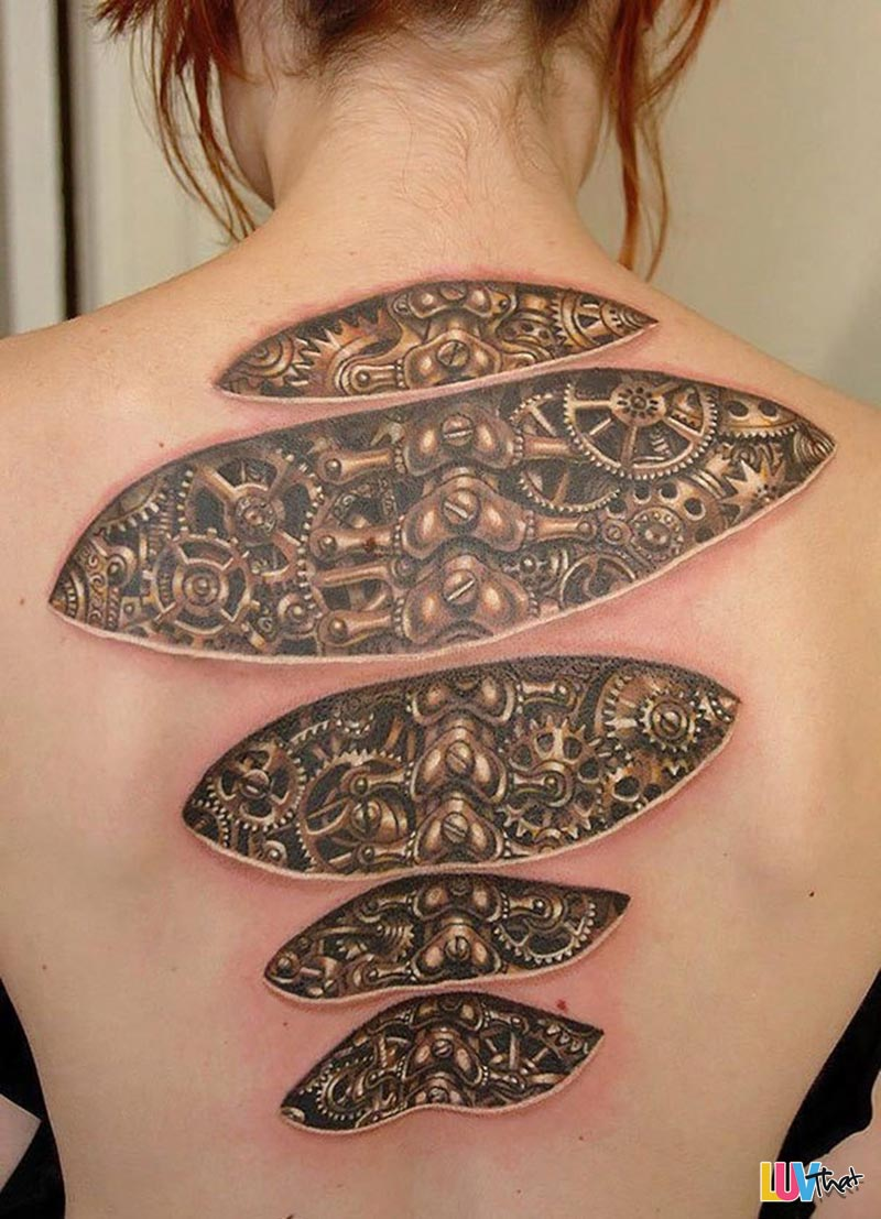20 Mind-bending Optical Illusion Tattoos – LuvThat
