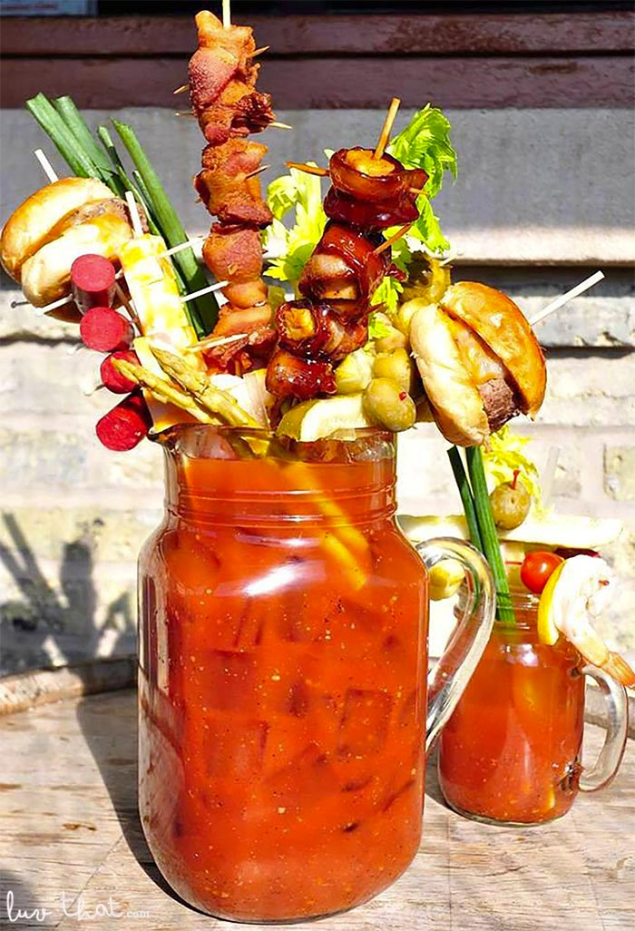 crazy bloody mary toppings garnish