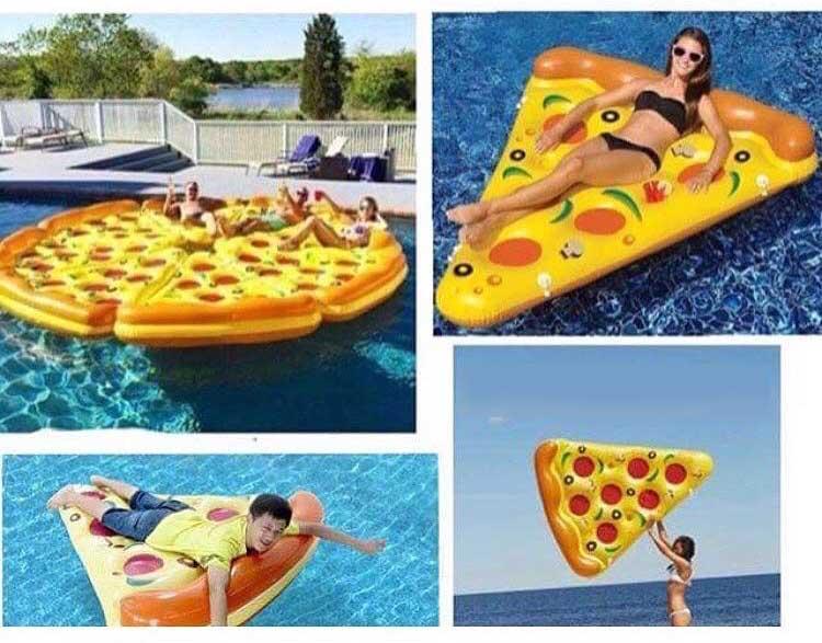 pizza slices pool float