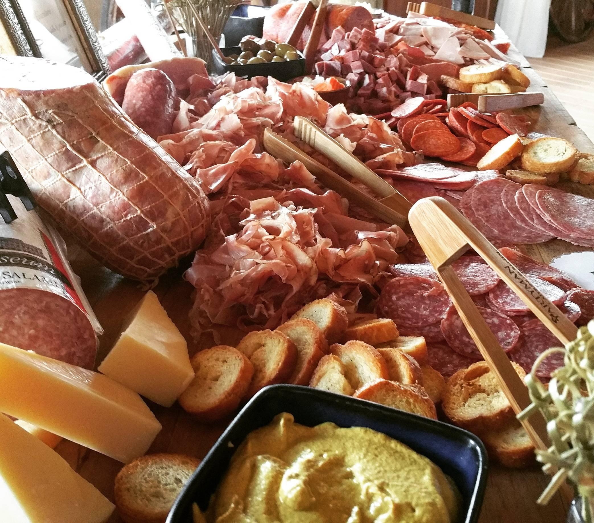 Huge Meat Charcuterie Spread